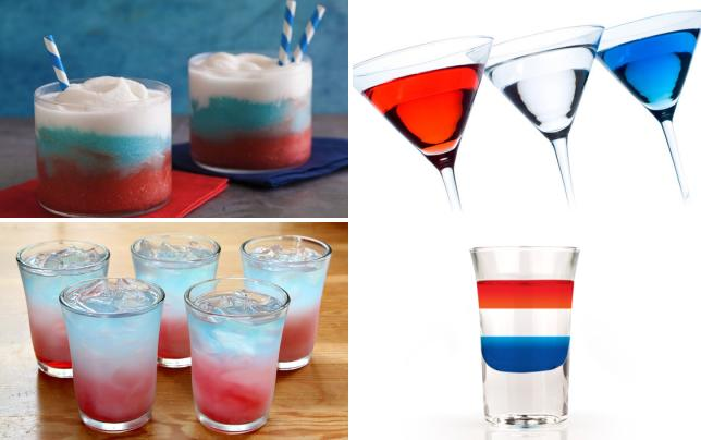 Red white and blue daquiris