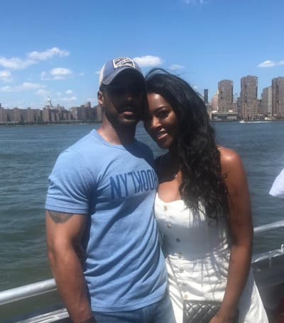 "Kenya Moore and Marc Daly for ""Bae Day"""
