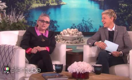 Ellen DeGeneres and Carrie Fisher