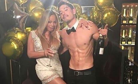 Brian Tanaka and Mariah Carey
