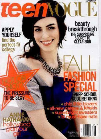 Anne Hathaway in Teen Vogue