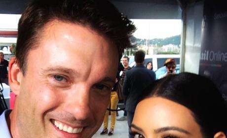 Keir Simmons and Kim Kardashian