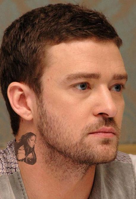 Justin Timberlake Tattoo (Fake)