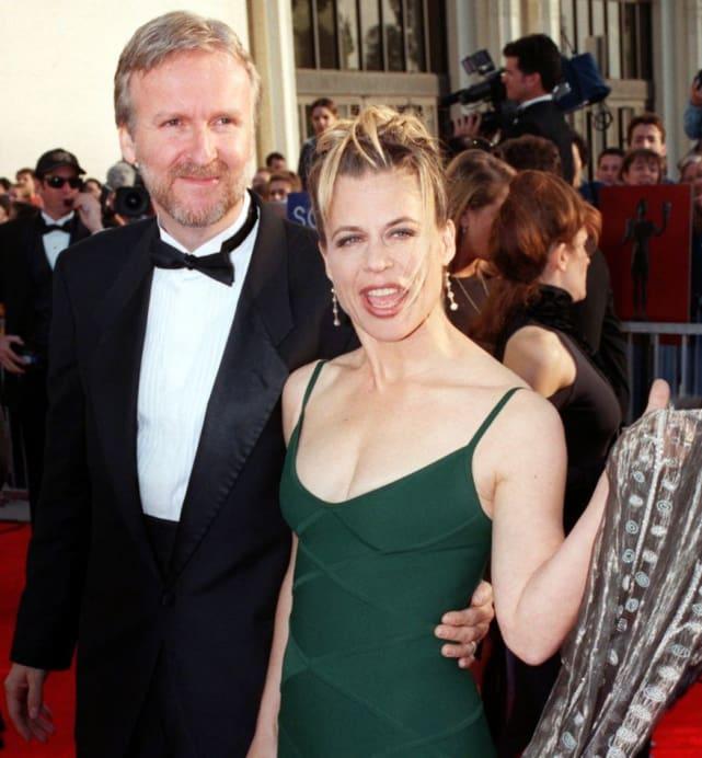 James Cameron and Linda Hamilton