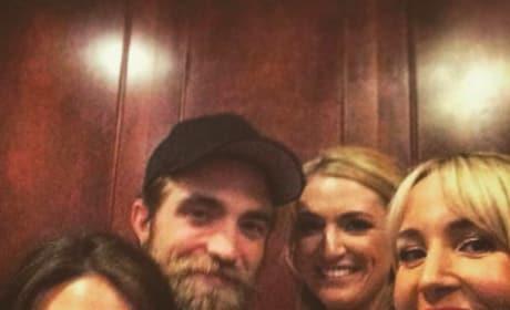 Robert Pattinson at a Wedding