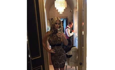 Kim Zolciak cocktail dress selfie