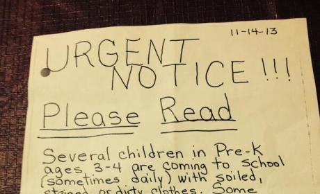 Was a pre-K teacher right or wrong to send home this note?