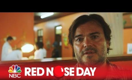Jack Black Visits Children's Hospital for Red Nose Day