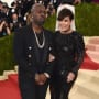 Corey Gamble and Kris Jenner Pose