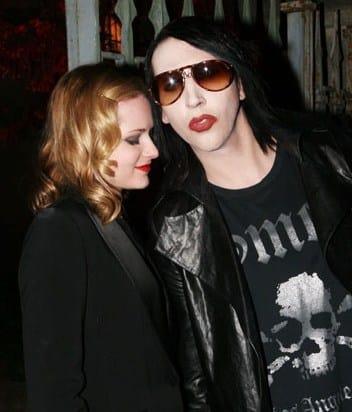Evan Rachel Wood and Marilyn Manson Pic