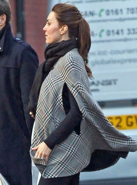 Kate Middleton Baby Bump Sort Of Revealed The