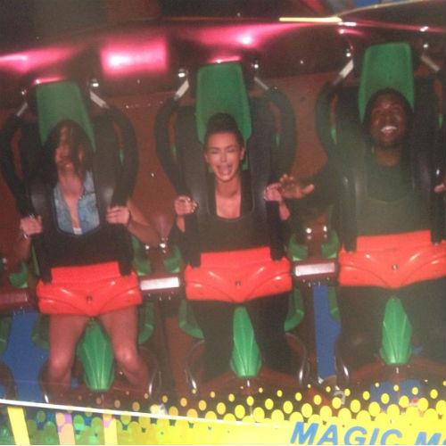 Kim Kardashian on a Roller Coaster