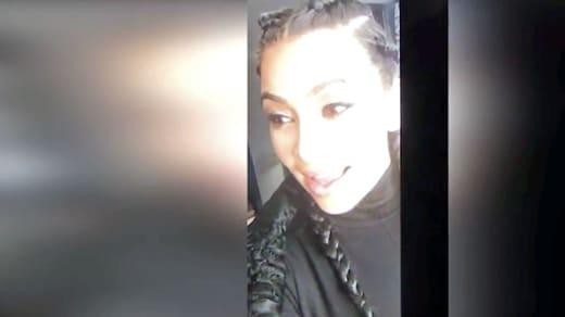 Kim Kardashian talks to Saint on livestream