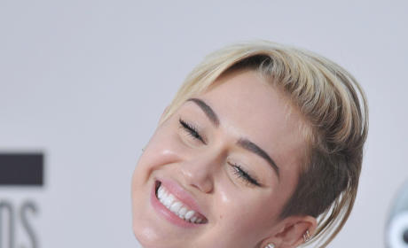 Smiling Miley Cyrus