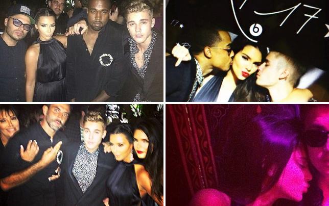 Justin bieber kim kardashian and kanye west