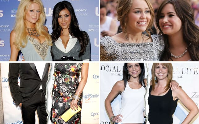 11 celebrity bff break ups kim kardashian and paris hilton