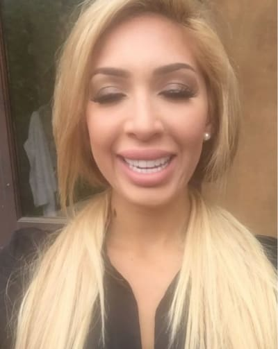 Farrah Abraham with Eyes Closed