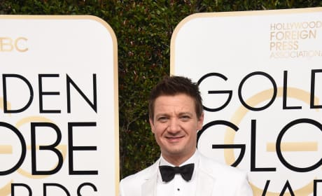 Jeremy Renner at the Globes