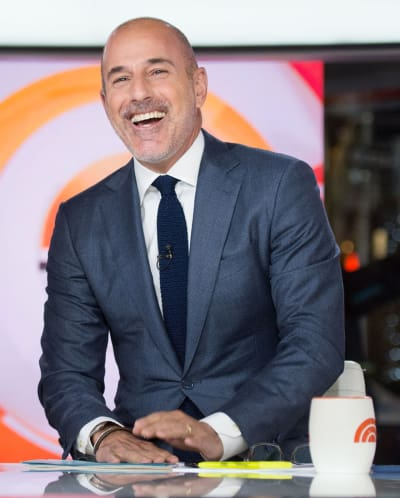 Matt Lauer on the Set