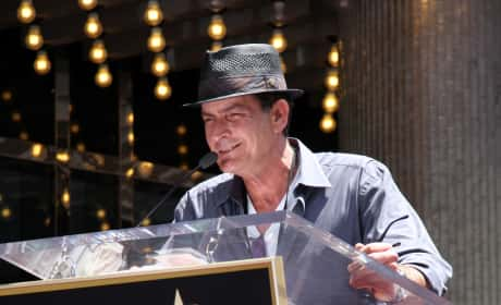 Charlie Sheen at the Mic