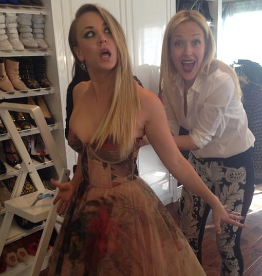 Kaley Cuoco Gets Ready
