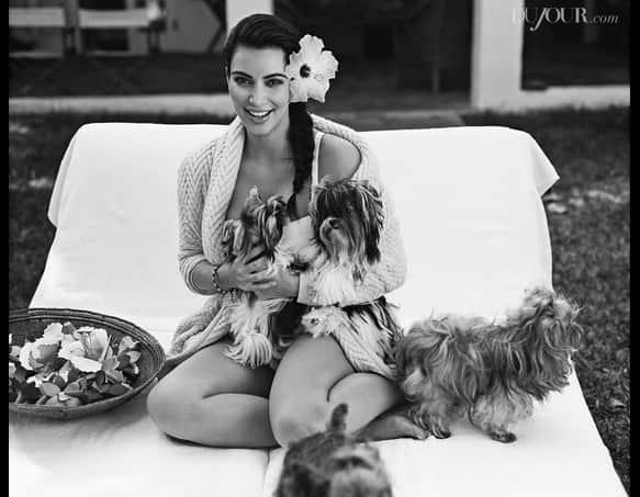 Kim Kardashian and Dogs