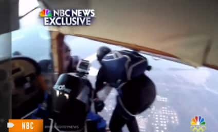 Skydivers Jump to Safety Off Colliding, Exploding Planes: AMAZING VIDEO!