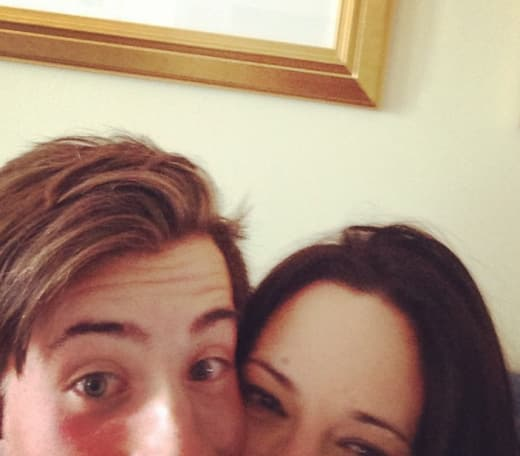 Jimmy Bennett and Asia Argento