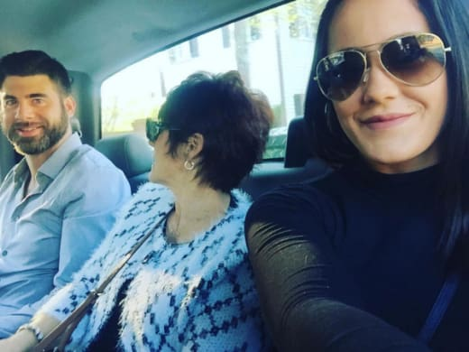 Jenelle Evans, David Eason and Barbara Evans