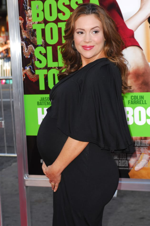 Pregnant Alyssa Milano