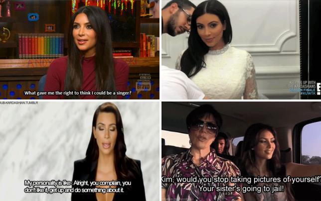 Kim kardashian knows shes a horrible singer