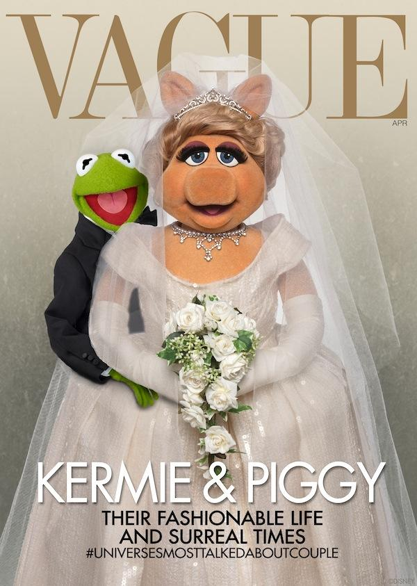Miss Piggy and Kermit Cover Vogue