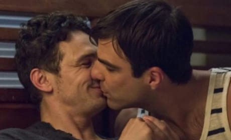 James Franco Kisses Zachary Quinto