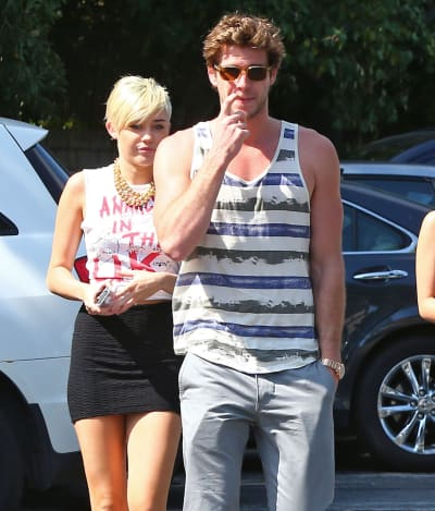 Liam Hemsworth and Miley Cyrus, Out and About