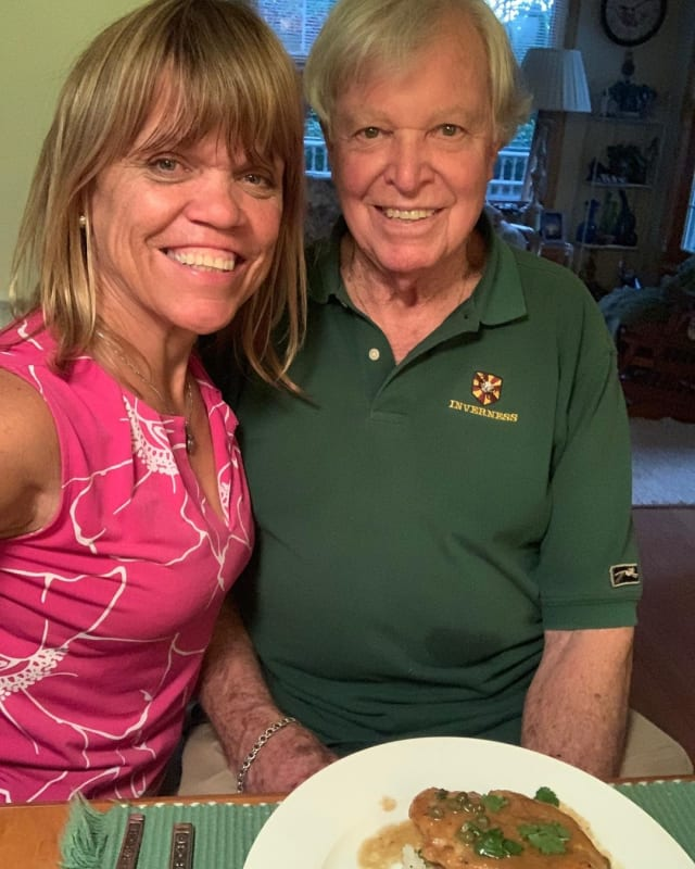 Amy roloff and her dad gordon knight