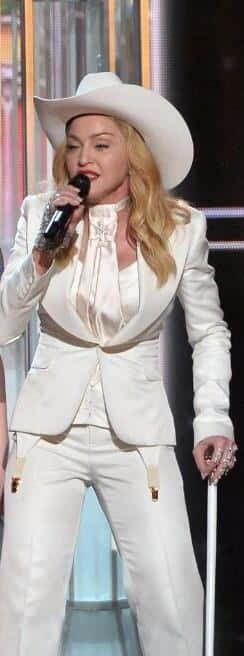 Why Does Madonna Look Like the Wayan Brother From White Chicks Who Didn't Fit In This Outfit?