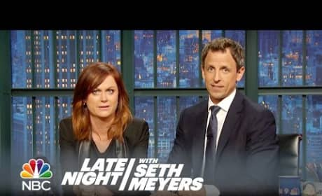 """Amy Poehler and Seth Meyers Reunite for """"REALLY?!?"""" on Late Night"""