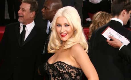 Christina Aguilera at Golden Globes