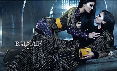 Kendall and Kylie Balmain Ad