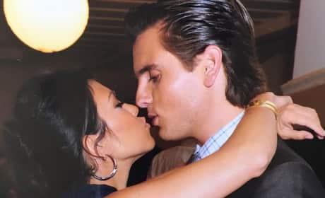Kourtney Kardashian and Scott Disick Kiss
