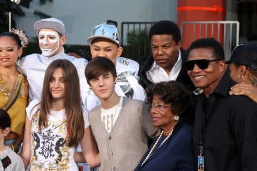 Jackson Family and Bieber
