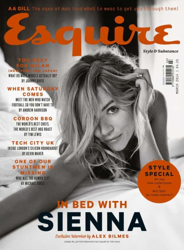 Sienna Miller Esquire Cover
