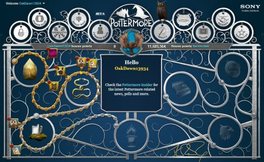 Pottermore Homepage