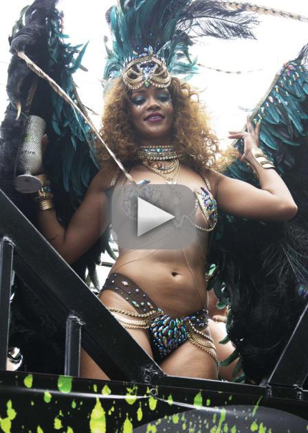 Rihanna Twerks Up Major Storm in Barbados