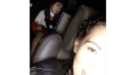 North West Gives MAJOR Side-Eye as Kim Kardashian Sings in the Car: WATCH!