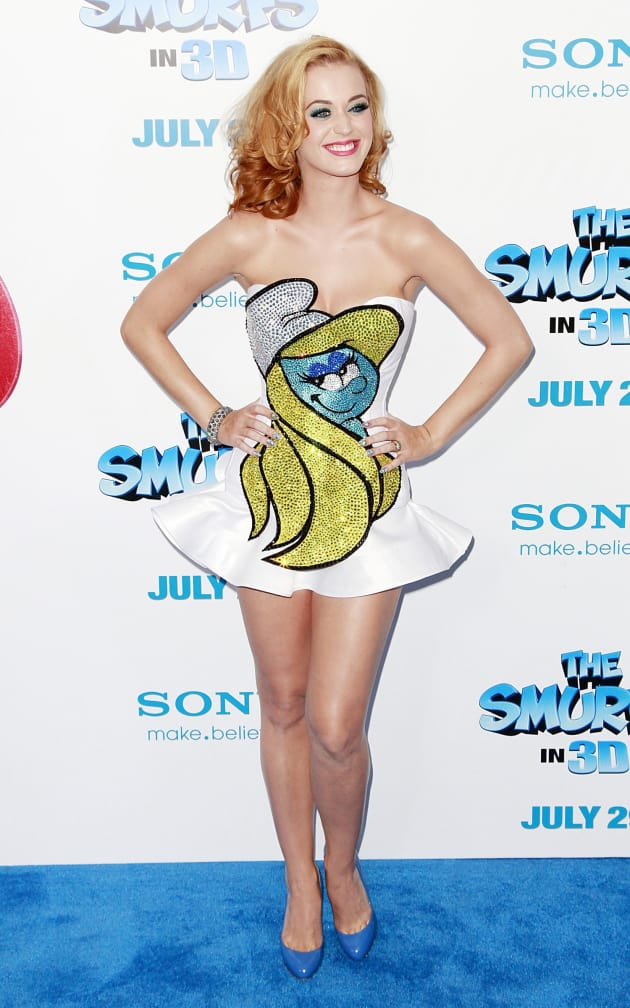 Katy Perry Smurfette Dress