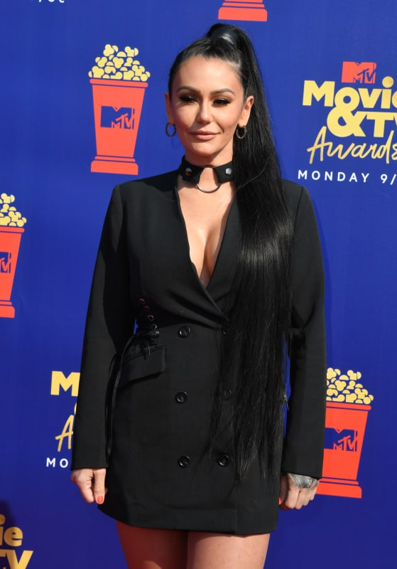 Jwoww at the mtv movie and tv awards