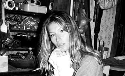 Gisele Bundchen: No Makeup! No PANTS!