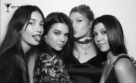 Gigi Hadid, Kendall Jenner, Kourtney Kardashian and Lily Aldridge