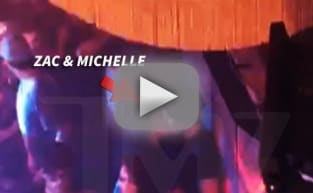 Zac Efron and Michelle Rodriguez Make-Out Session